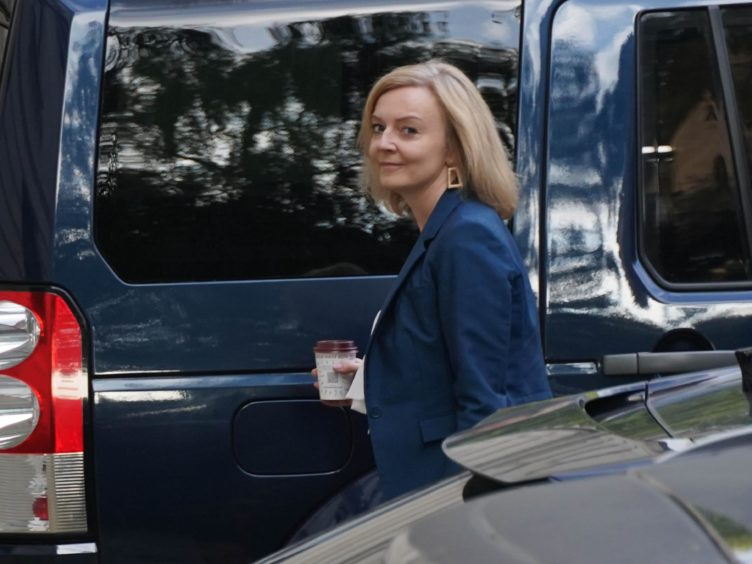 Liz Truss, the new Foreign Secretary, arriving at the Foreign Office (Stefan Rousseau/PA)