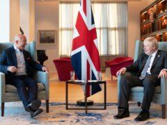 Prime Minister Boris Johnson meets with Amazon executive chairman, Jeff Bezos (Stefan Rousseau/PA)