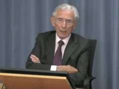 Lord Norman Fowler, who was the Secretary of State for Health and Social Security from 1981 to 1987, giving evidence at the Infected Blood Inquiry (Infected Blood Inquiry/PA)