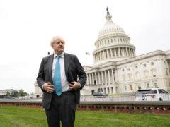 Prime Minister Boris Johnson outside the Capitol Building, Washington DC (PA)