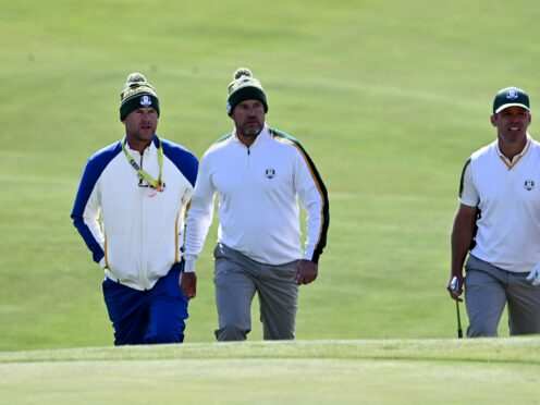 Paul Casey, right, feared he might never play in the Ryder Cup again (Anthony Behar/PA)