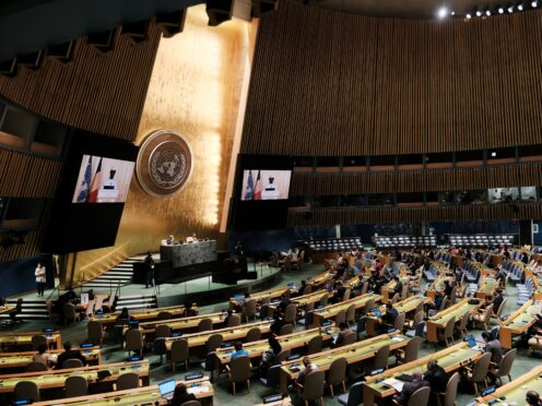 The UN General Assembly is taking place in New York (Spencer Platt/Pool Photo via AP)
