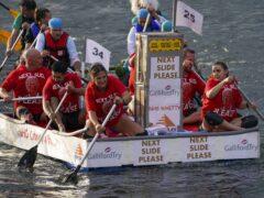 The raft race raises cash for charity (Steve Parsons/PA)