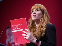 Labour deputy leader Angela Rayner speaks at the Labour Party conference in Brighton (Stefan Rousseau/PA)