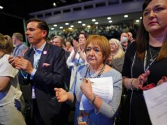 Dame Margaret Hodge (centre) during the Labour Party conference in Brighton (Stefan Rousseau/PA)