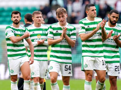 Celtic were held to a home draw by Dundee United (Jane Barlow/PA).