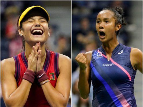 Emma Raducanu, left, and Leylah Fernandez will do battle in the US Open final (Frank Franklin II/Seth Wenig/AP)