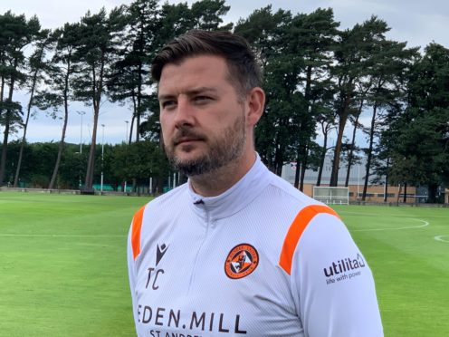 Dundee United boss Tam Courts embracing goalkeeping dilemma (Ronnie Esplin/PA)