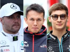 Valtteri Bottas (left), Alex Albon and George Russell has all signed deals with different teams for 2022 (Martin Rickett/David Davies/PA)