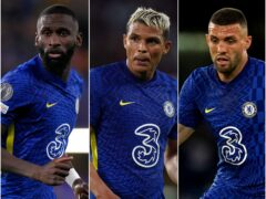 Antonio Rudiger, Thiago Silva and Mateo Kovacic, l-r, have starred for Chelsea (John Walton/Adam Davy/PA)