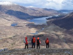 Trees for Life volunteers in Glen Affric (Trees for Life/PA)