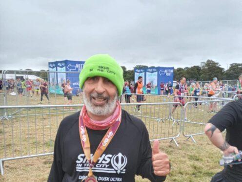 Harmander Singh, 62, of Ilford, east London, is preparing to run his 37th consecutive London Marathon (Harmander Singh/ PA)