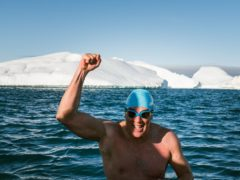 Lewis Pugh has completed his most challenging swim (Olle Nordell/Lewis Pugh Foundation/PA)