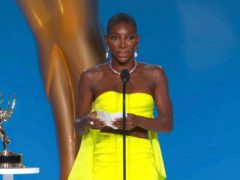 Michaela Coel delivered a powerful acceptance speech after winning her first ever Emmy Award (Television Academy via AP)
