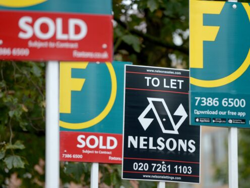 House prices and rents are on an upward trend amid a striking imbalance between demand and supply, according to the Royal Institution of Chartered Surveyors (Anthony Devlin/PA)