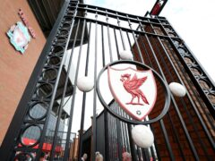A view of the Paisley Gateway at the Kop end before the Barclays Premier League match at Anfield, Liverpool (PA)