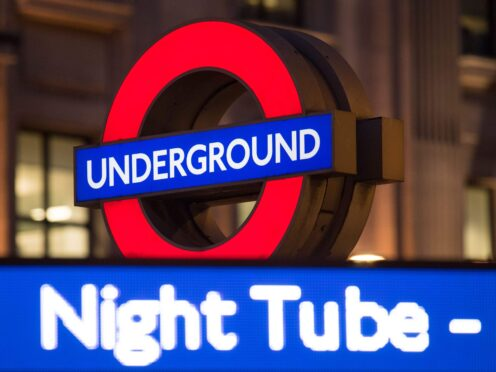 London Underground's Night Tube will resume next month after being suspended in March 2020 due to the coronavirus pandemic (Dominic Lipinski/PA)