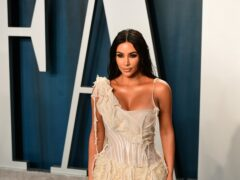 Kim Kardashian West joked about her divorce, sex tape and OJ Simpson during her hosting debut on Saturday Night Live (Ian West/PA)