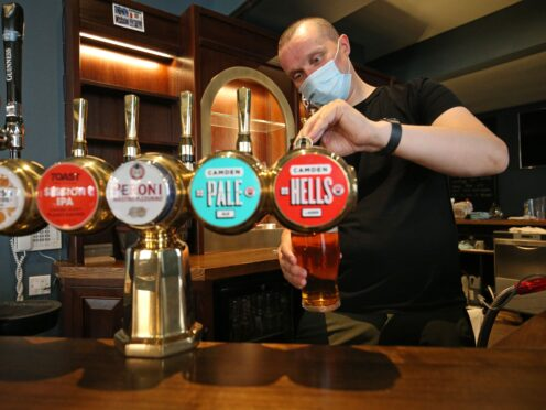 Pub group Marston's has seen trading rebound above levels seen before the pandemic struck thanks to the full lifting of restrictions in the summer (Jonathan Brady/PA)