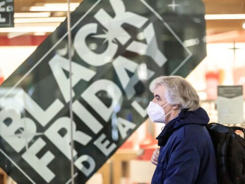 Around one in four people are worried that items they want to buy on Black Friday will be out of stock due to supply chain problems, according to a YouGov survey for PriceRunner (Danny Lawson/PA)