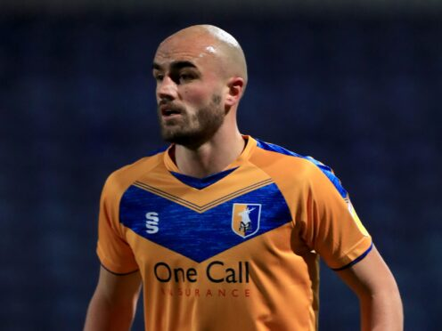 Farrend Rawson was sent off in Mansfield's 1-0 loss to Barrow (Mike Egerton/PA).