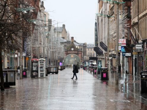 Footfall in Scotland was down by a fifth in September (Andrew Milligan/PA)