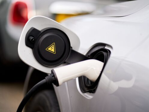 The number of battery-electric vehicles on UK roads has overtaken plug-in hybrids for the first time, according to analysis (John Walton/PA)