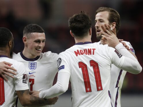 England players Raheem Sterling, Phil Foden, Mason Mount and Harry Kane have been nominated for the Ballon d'Or (Florian Abazaj/PA)