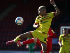 Tyreik Wright was playing for Walsall when he received the messages (Yui Mok/PA)