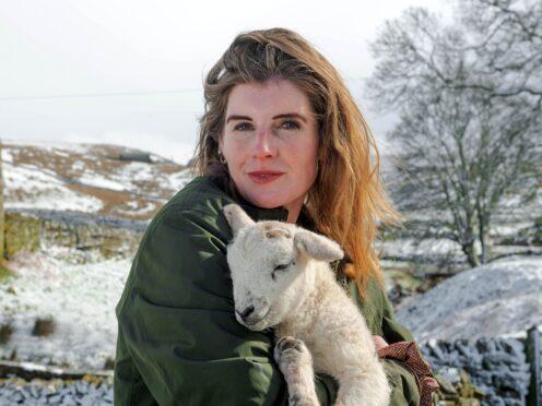 Amanda Owen stars in Our Yorkshire Farm alongside her husband and children (Richard Walker/PA)