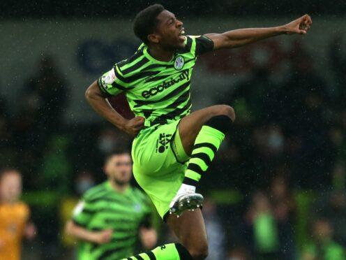 Forest Green Rovers' Ebou Adams is on international duty (Steven Paston/PA)