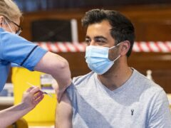Scottish Health Secretary Humza Yousaf said come people would receive flu and Covid-19 vaccines at the same time (Jane Barlow/PA)