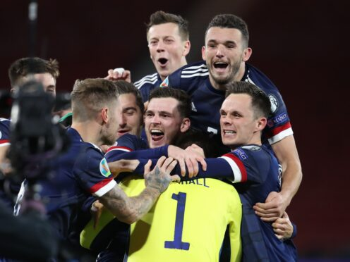 Scotland look to take a huge step towards clinching second place and a play-off spot (Andrew Milligan/PA)