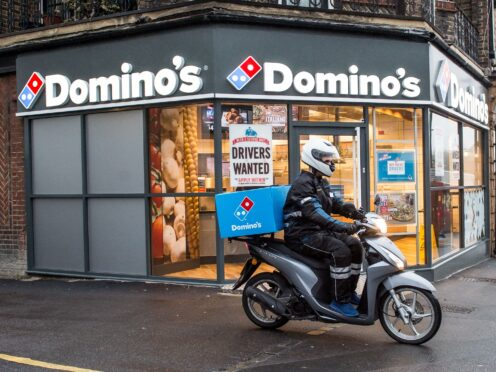 Domino's plans to hire more than 8,000 delivery drivers (Dominos/PA)