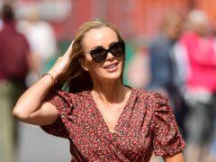 Amanda Holden leaves Global Radio in London (Ian West/PA)