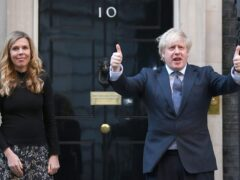 Carrie and Boris Johnson in Downing Street (Victoria Jones/PA)