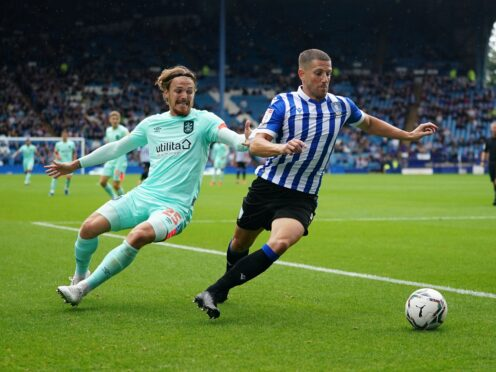 Sam Hutchinson, right, could be in contention for Sheffield Wednesday (Zac Goodwin/PA)