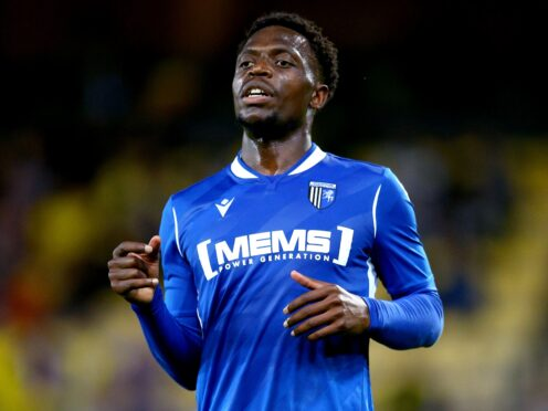 David Tutonda will miss out for Gillingham (Nigel French/PA)