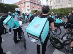Deliveroo results lead to a sales upgrade (Niall Carson / PA)