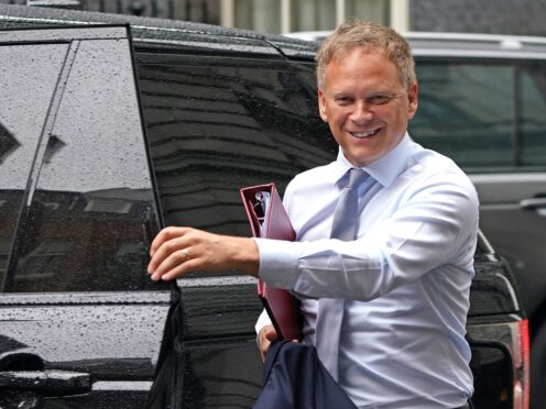 Transport Secretary Grant Shapps arrives in Downing Street, London (Victoria Jones/PA)