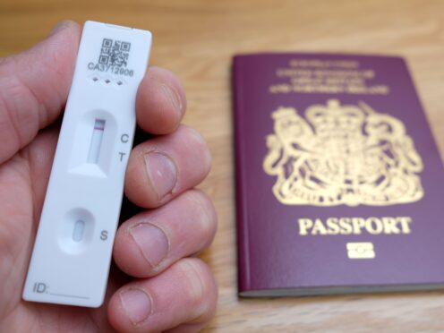 Eligible travellers will be able to order lateral flow tests from private testing providers (PA)