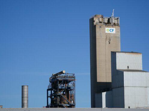 A view of the CF Fertilisers plant in Billingham, Cleveland (Owen Humphreys/PA)