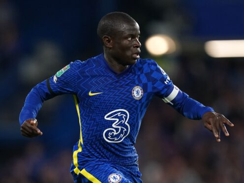 N'Golo Kante is back in training for Chelsea after testing positive for Covid-19 (Mike Egerton/PA)