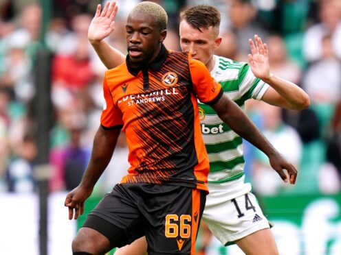 Dundee United's Jeando Fuchs (left) allegedly suffered racist abuse in the match with Ross County (Jane Barlow/PA)