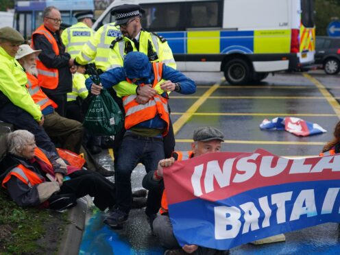 Climate group Insulate Britain has suspended its protests until later this month (Steve Parsons/PA)