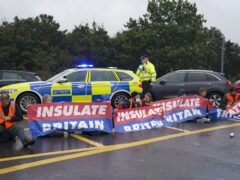 Insulate Britain have targeted key routes including the M25 several times in recent days (Steve Parsons/PA)