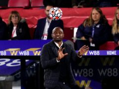 Crystal Palace manager Patrick Vieira believes Leicester are going through a difficult period (John Walton/PA)