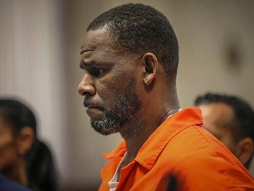 One of R Kelly's accusers has said the claim the disgraced R&B superstar was 'railroaded' at his sex trafficking trial is 'beyond insulting' (Antonio Perez/Chicago Tribune via AP, Pool, File)