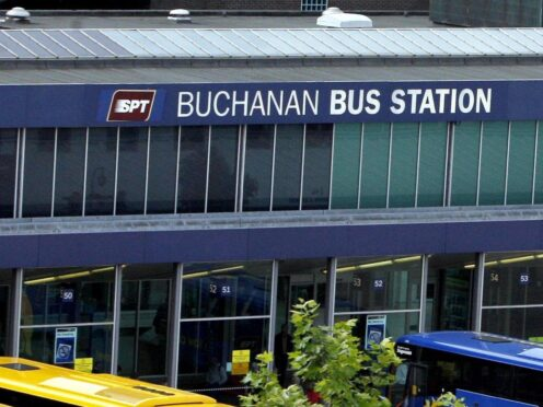 The incident happened near Buchanan Bus Station (Danny Lawson/PA)