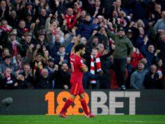 Salah's solo strike lit up Anfield (Peter Byrne/PA)